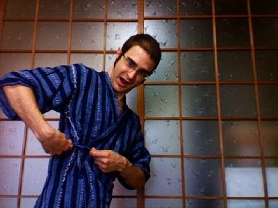 De compras en Japón, probándonos un jinbei
