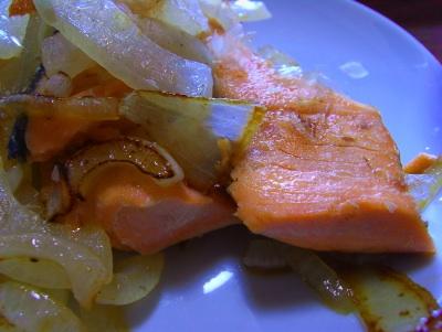 salmón shake シャケ 鮭